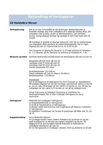 Horingssvar Bus Aendringer I Region Midtjylland For