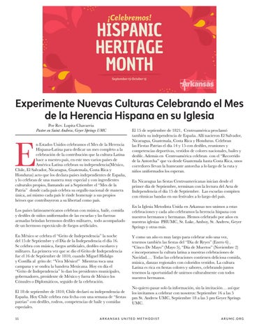 Page 12 of Experience New Cultures by Celebrating Hispanic Heritage Month at Your Church