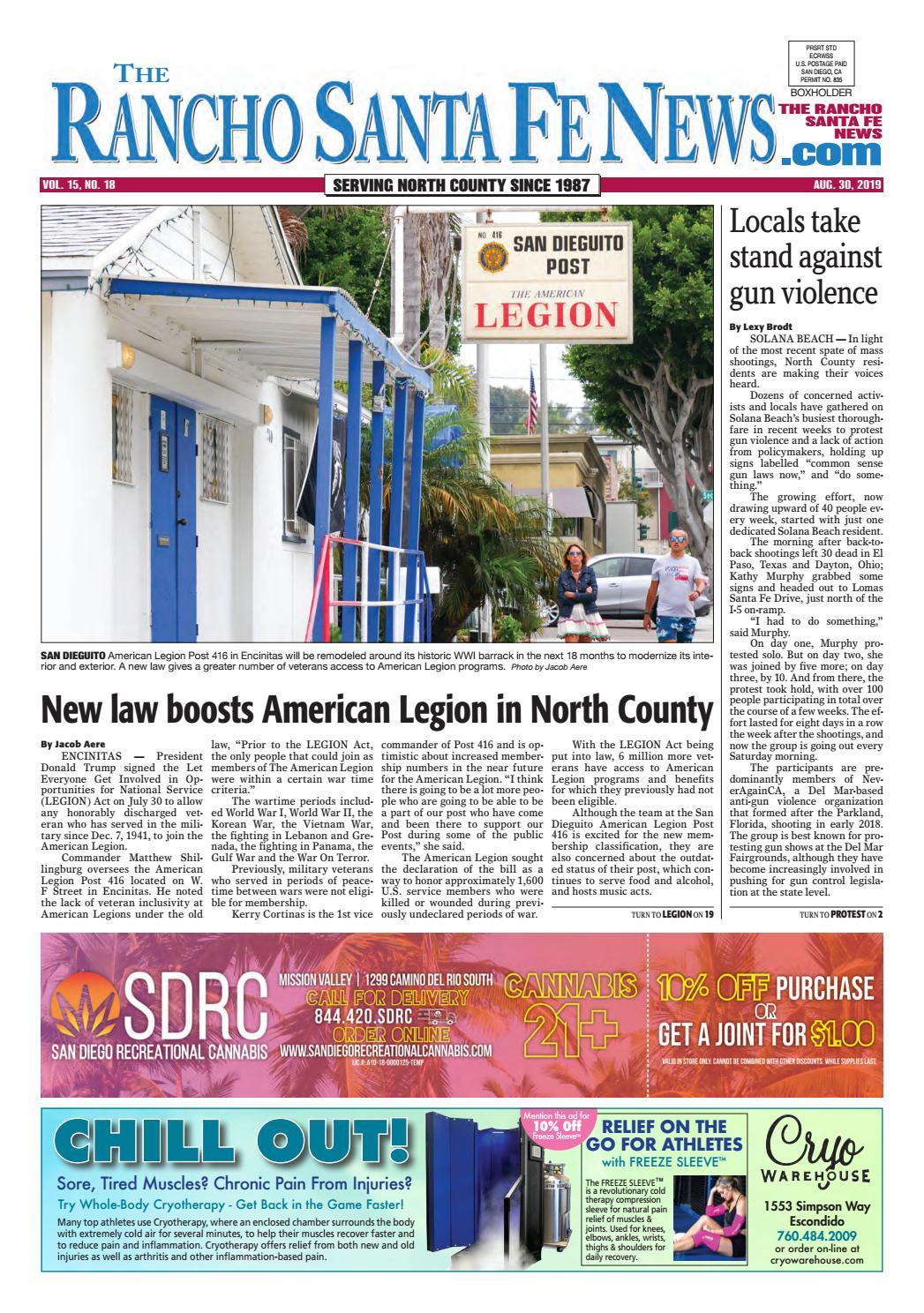 Rancho Santa Fe News August 30 2019 by Coast News Group