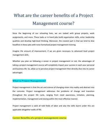 Learn The Art Of Project Management