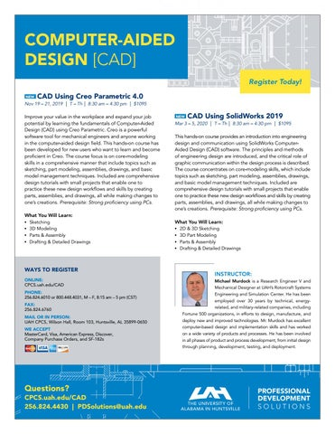 UAH PD SOLUTIONS: COMPUTER-AIDED DESIGN [CAD] by UAH College