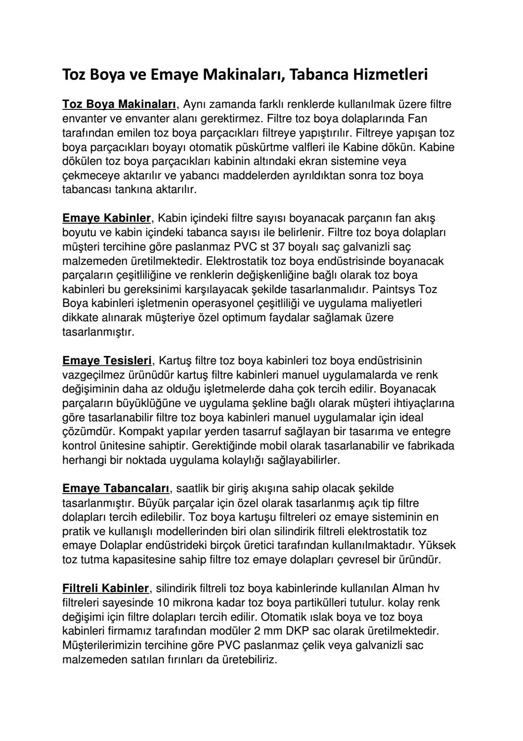 Toz Boya Ve Emaye Makinalari Tabanca Hizmetleri By Turkce Haber