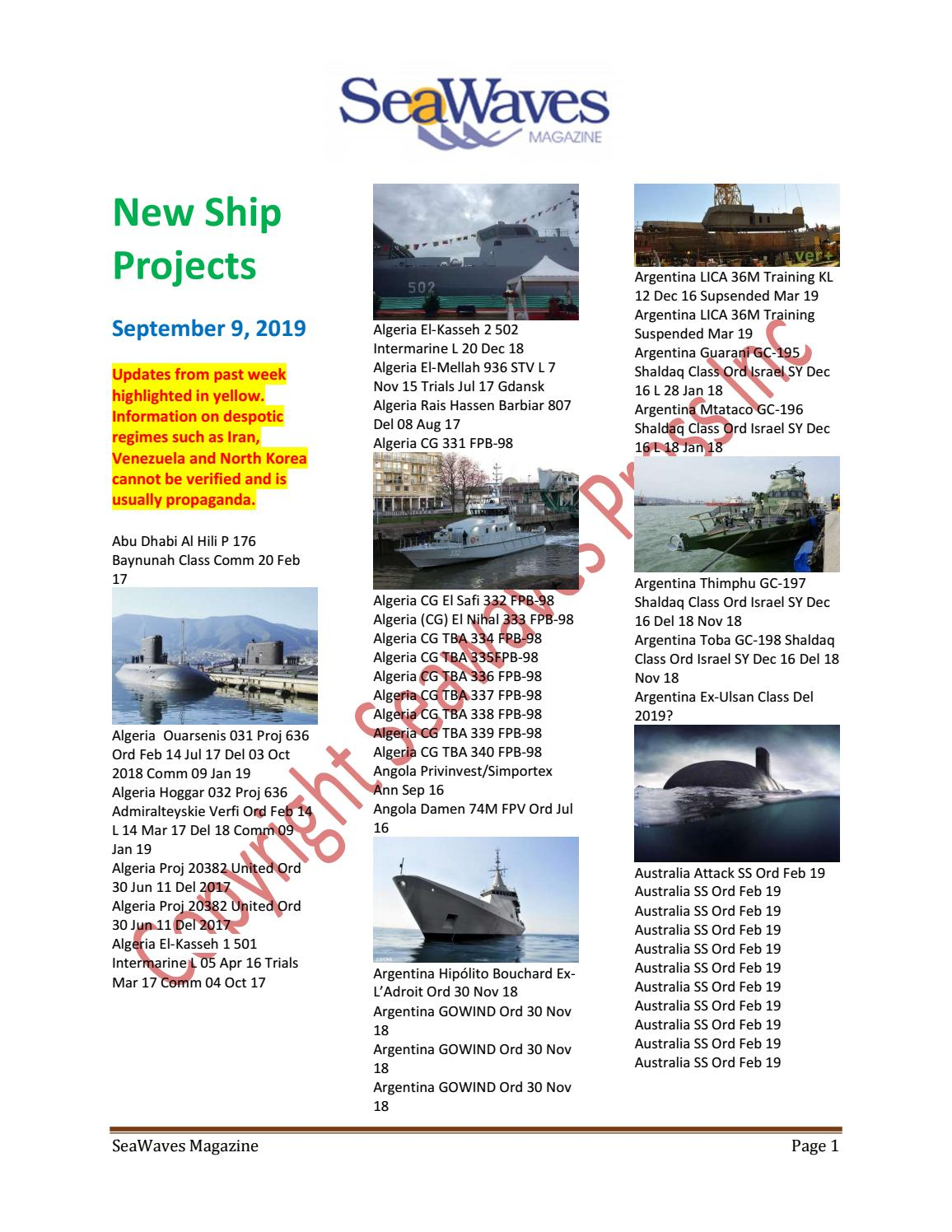 SeaWaves Press New Ship News August 26, 2019 by SeaWaves