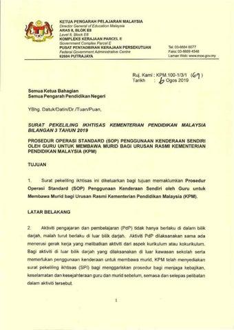 Surat Siaran Pekeliling Amp Garis Panduan By Mhy Issuu