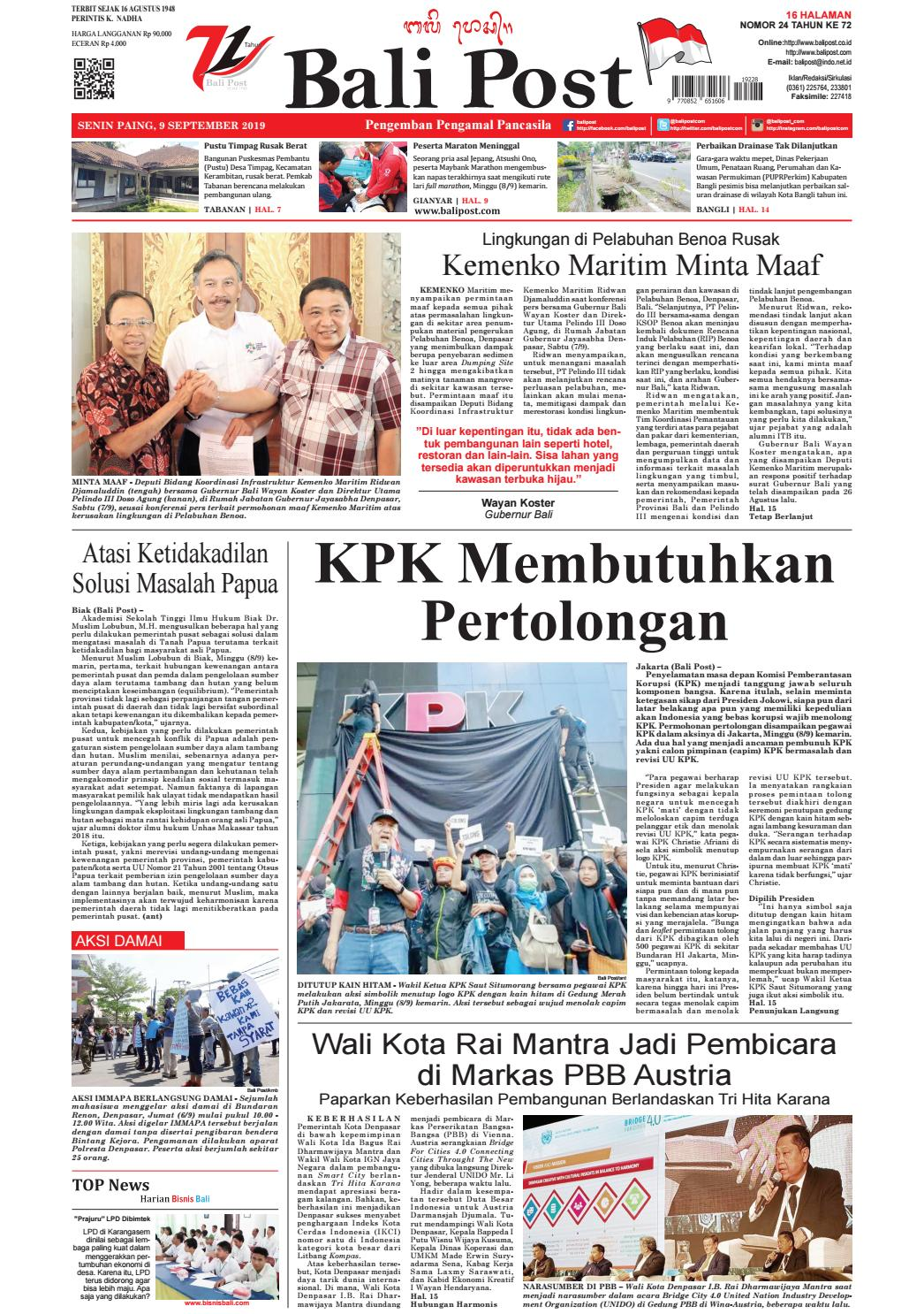 Edisi Senin 9 September 2019