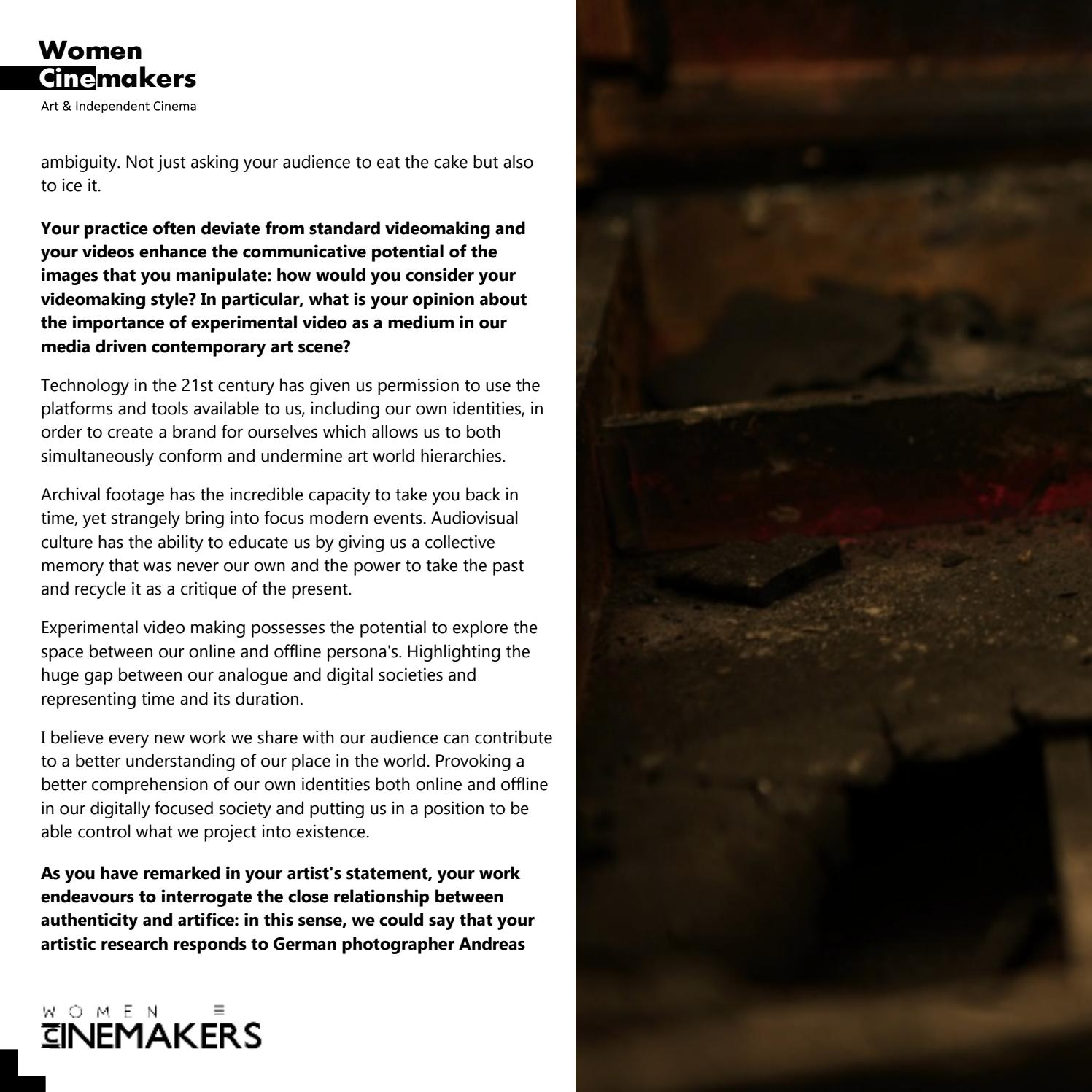 Womencinemakers Special Edition Vol 25 By Womencinemakers Issuu