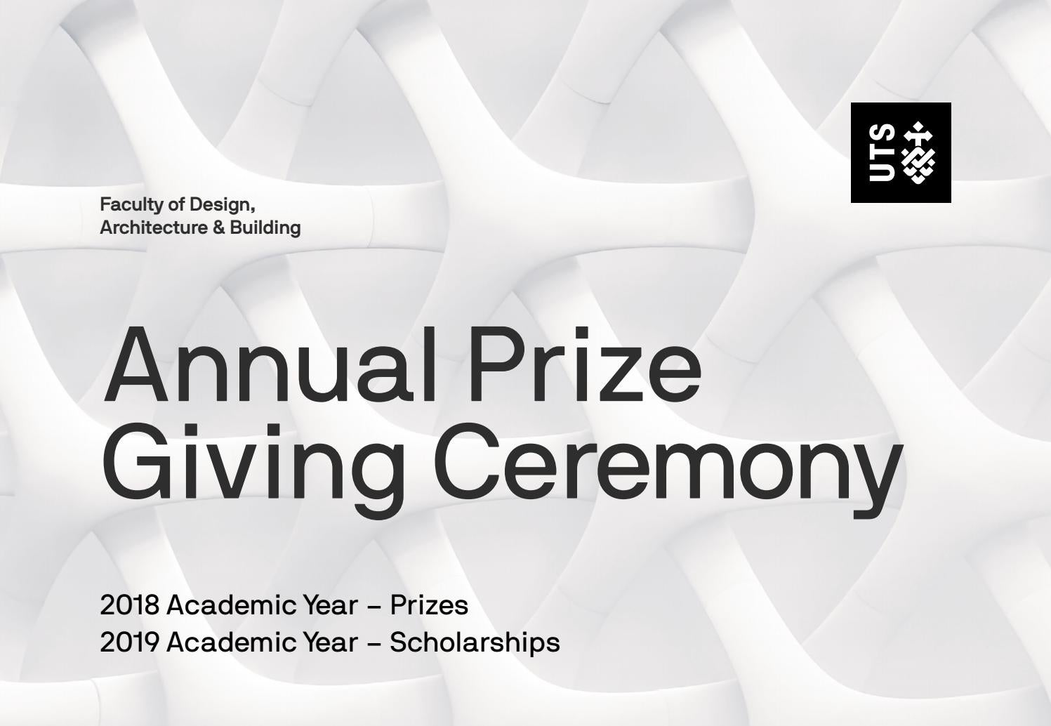 Design Architecture And Buidling 2019 Prize Giving Ceremony By Jim Klarner Issuu