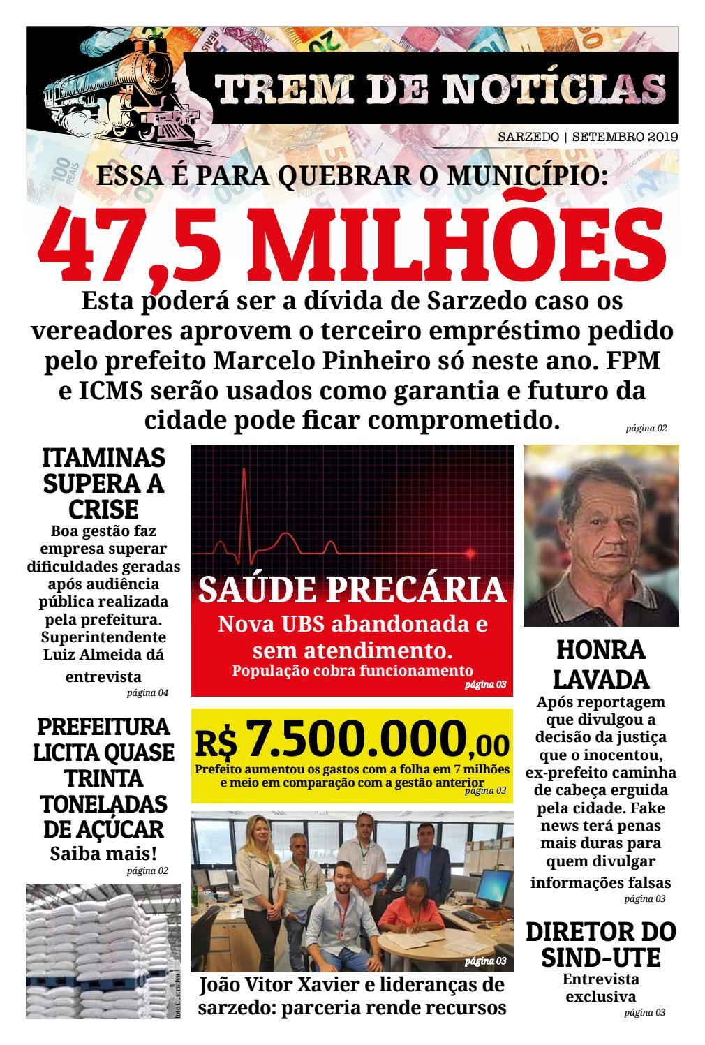 Jornal Trem De Noticias Edicao De Setembro 2019 By Jornal Online Issuu