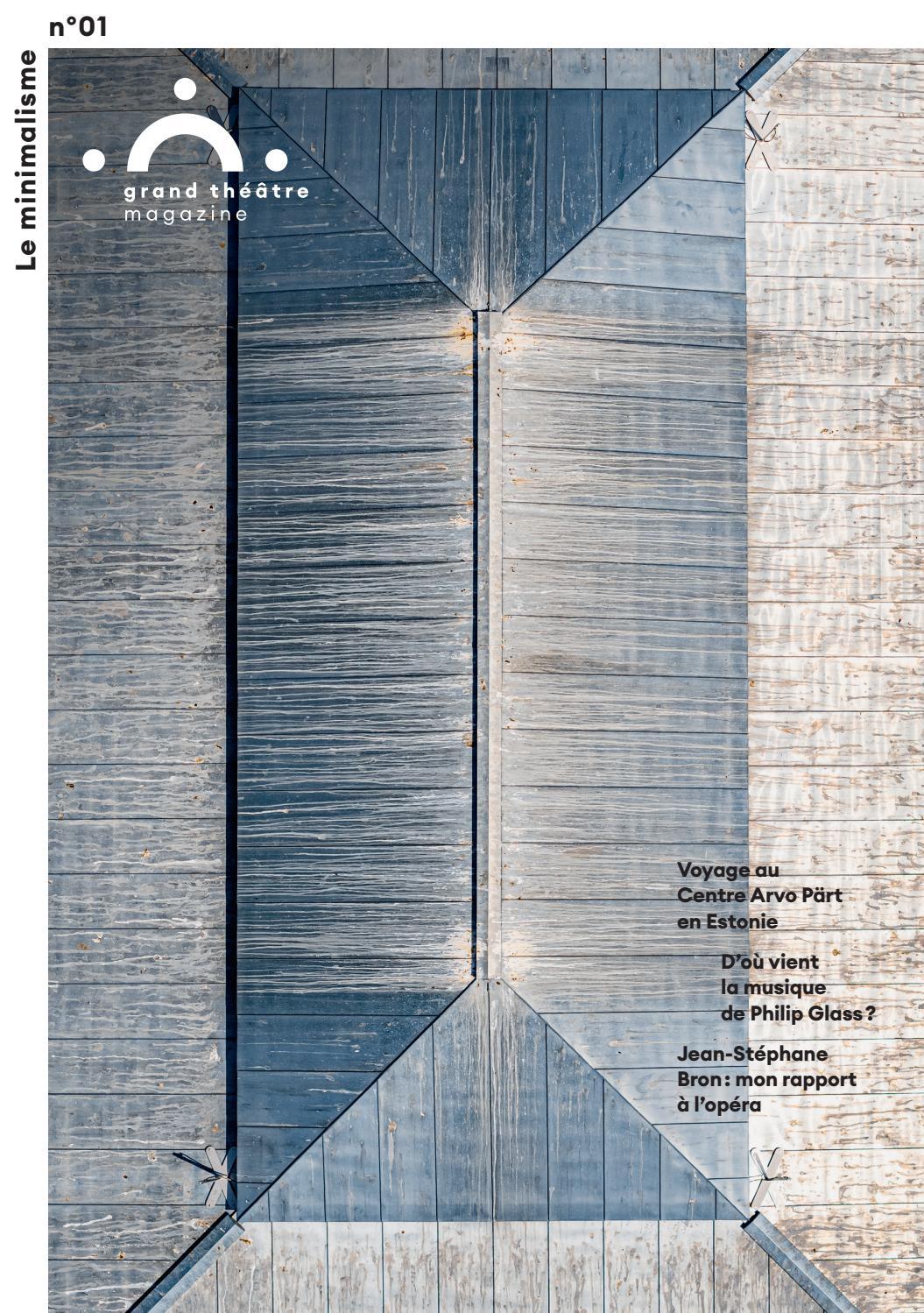Rampe D Escalier Traduction Anglais grand théâtre magazine n°01 - le minimalismegrand