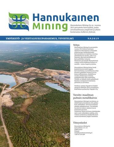 Hannukainen Mining Oy Ymparisto Ja Vesitalouslupahakemuksen