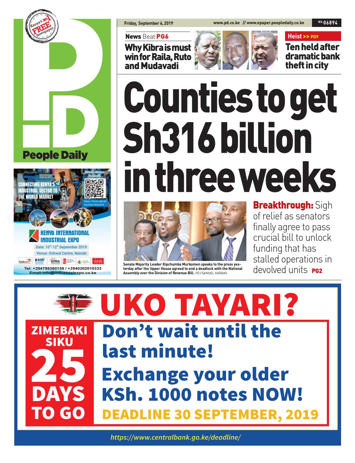 People Daily - 06th September 2019 by People Daily - issuu