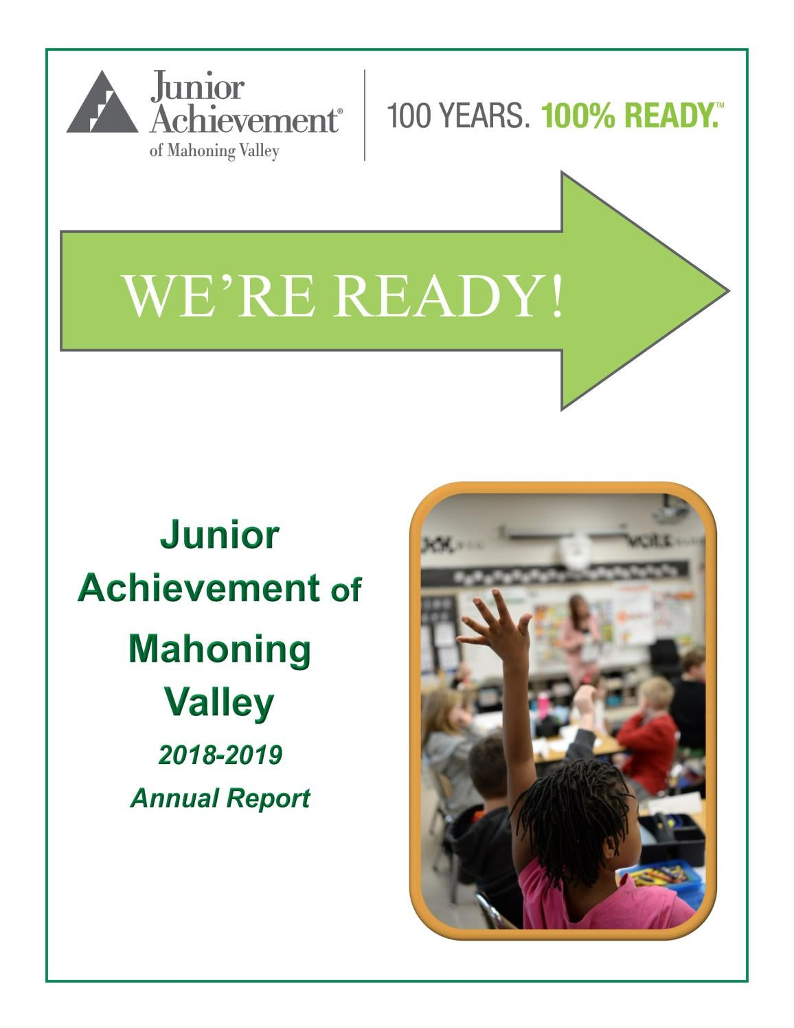 Junior Achievement of Mahoning Valley 2018 2019 Annual