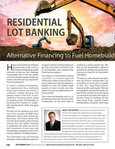 Page 16 of Residential Lot Banking: Alternative Financing to Fuel Homebuilding Growth