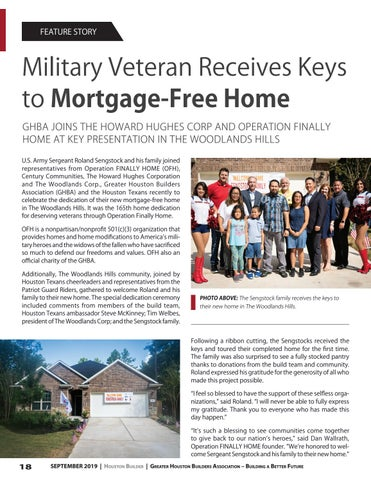 Page 18 of Military Veteran Receives Keys to Mortgage-Free Home
