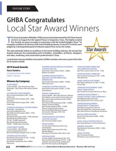 Page 22 of GHBA Congratulates Local Star Award Winners