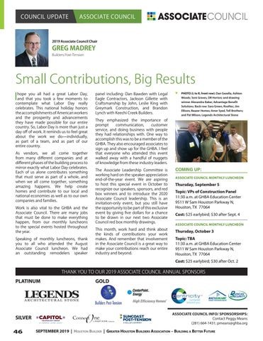 Page 46 of Associate Council: Small Contributions, Big Results