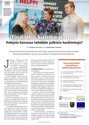 Page 70 of Tiedätkö kuinka paljon Pohjois-Savossa tehdään julkisia hankintoja?