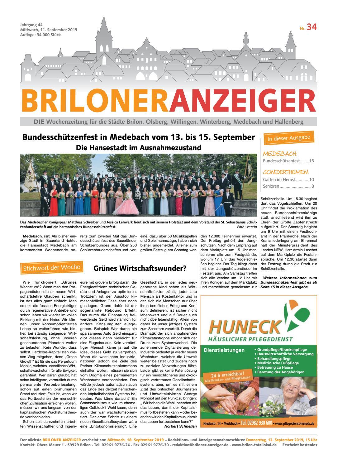 Briloner Anzeiger Ausgabe Vom 11092019 Nr34 By Brilon