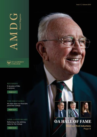 St Aloysius College Amdg Alumni Magazine Issue 3 Autumn