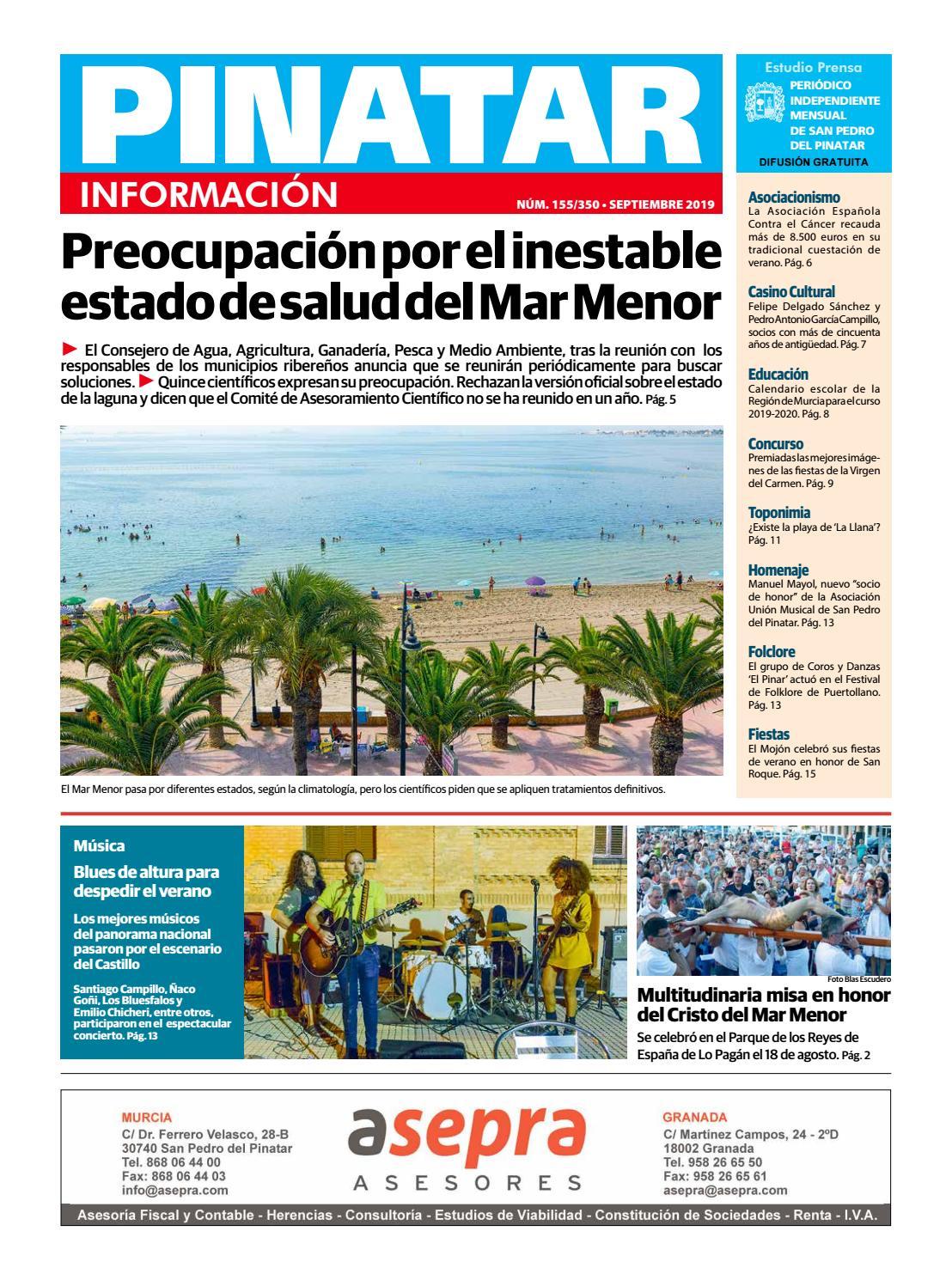 Pinatar Información Septiembre 2019 By Estudio Prensa Issuu