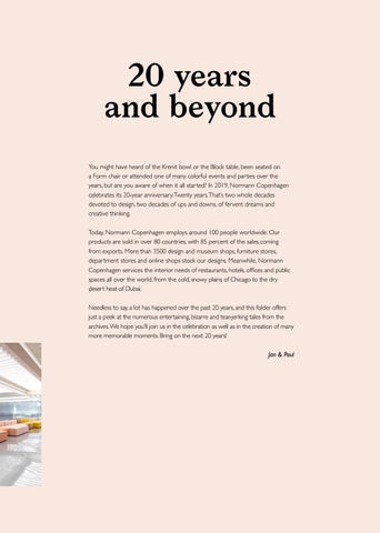 Page 5 of normann copenhagen: 20 Years and Beyond