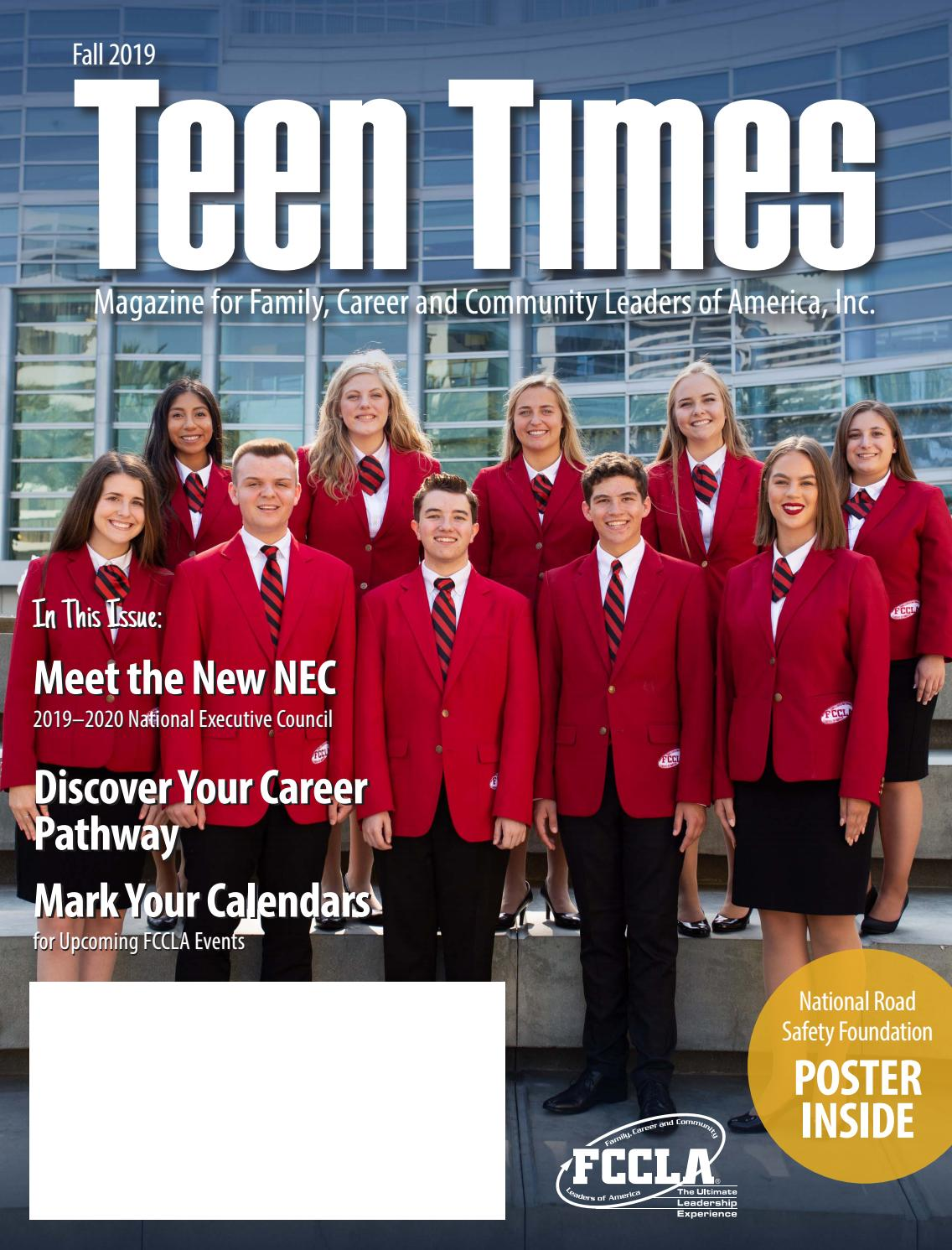 Teen Times Fall 2019 By Fccla Issuu
