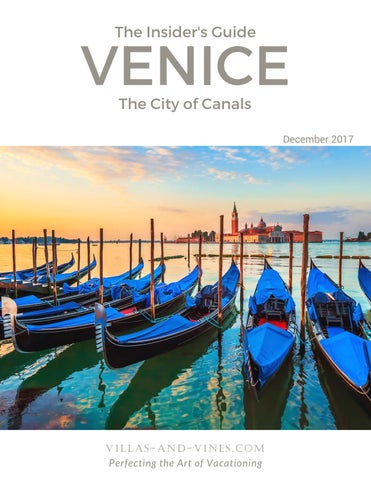 Insider S Guide To Venice By Villas And Vines Travel Issuu