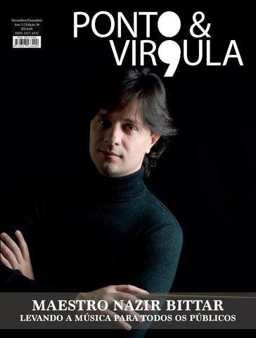 """Cover of """"Revista Ponto & Vírgula - Ano 5 - Edição 36 - Novembro/Dezembro 2017"""""""