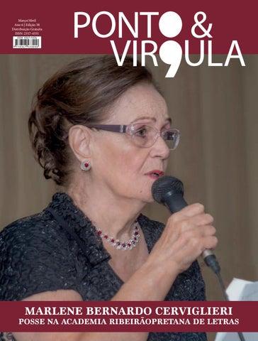 """Cover of """"Revista Ponto & Vírgula - Ano 6 - Edição 38 - Março/Abril 2018"""""""