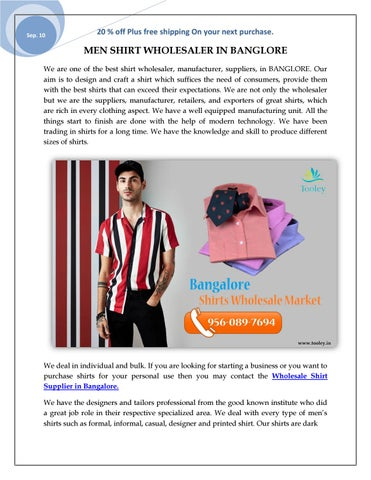 Shirt For Men Wholesale Shirts Online India By Tooley Shirt Manufacturer Wholesale Supplier Issuu