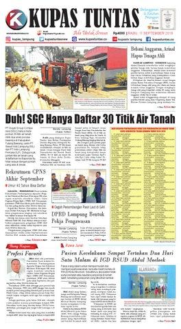 Surat Kabar Harian Kupas Tuntas Edisi Rabu 11 September