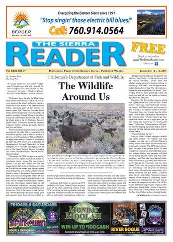 THE SIERRA READER SEPT 12 2019 by The Sierra Reader issuu