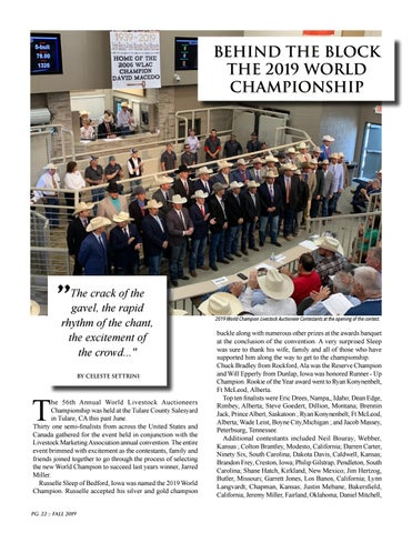 Page 22 of Behind The Block - The 2019 World Championships