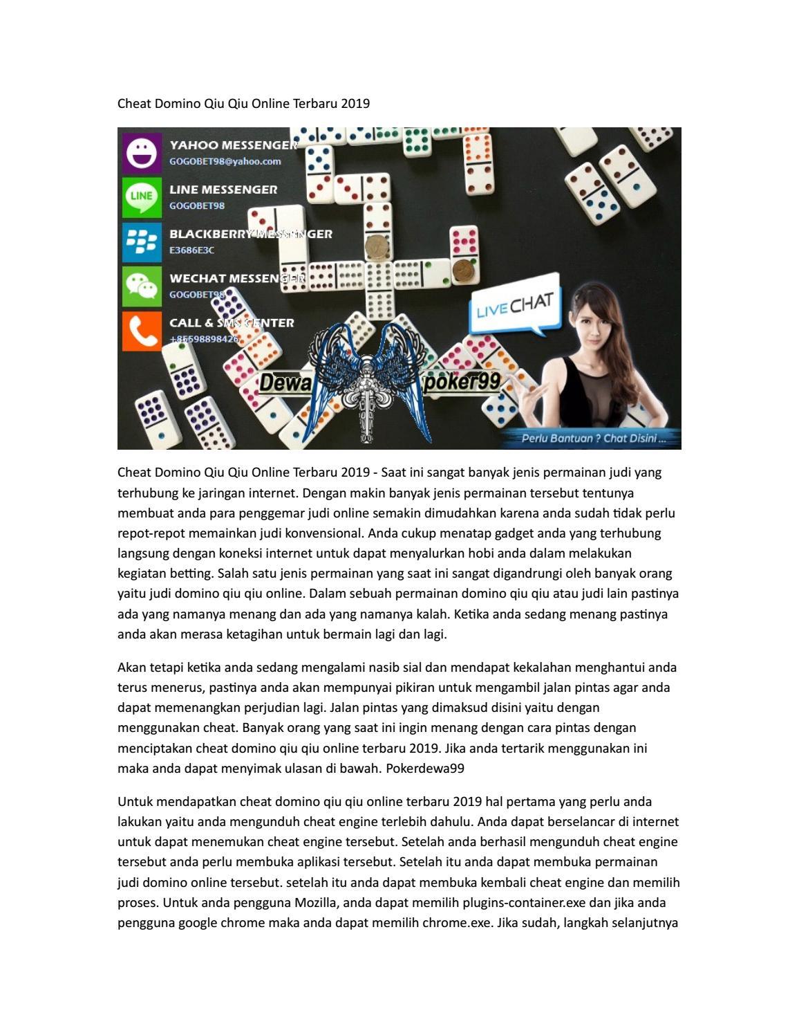 Cheat Domino Qiu Qiu Online Terbaru 2019 Dewapoker99 By Poker Idnplay Issuu
