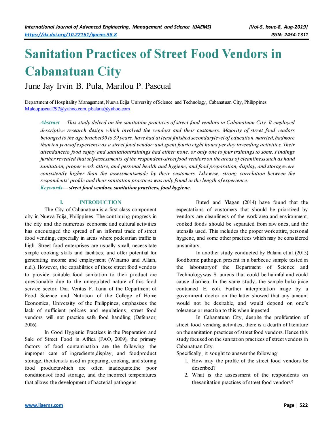Thesis statement about street foods professional curriculum vitae writer services for school