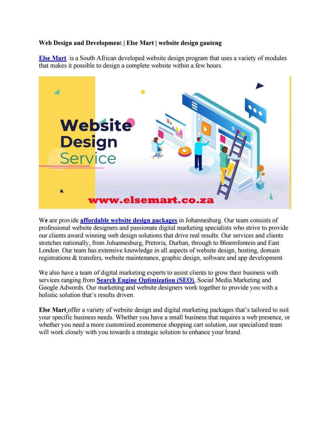 Web Design And Development Else Mart Website Design Gauteng By Arjun Adhikari Issuu