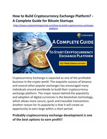 how to build cryptocurrency exchange platform