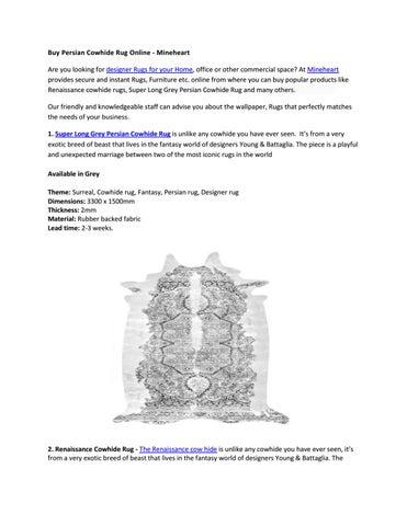 Persian Cowhide Rug Online Mineheart By