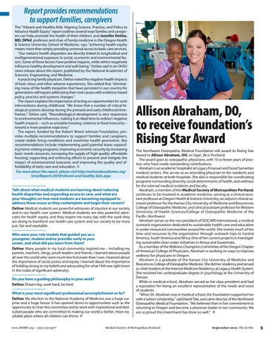 Page 5 of Allison Abraham, DO, to receive foundation's Rising Star Award