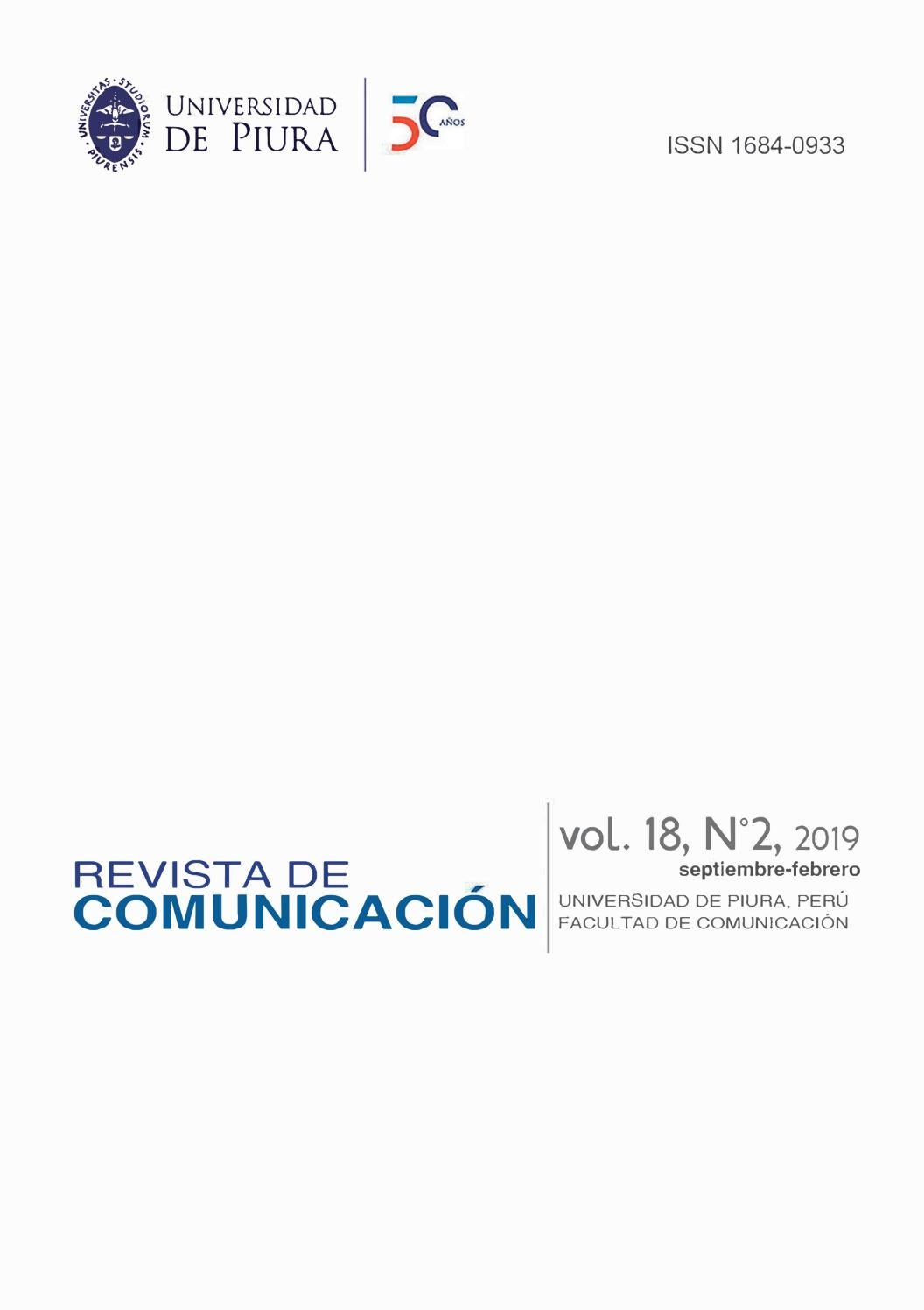 Revista De Comunicación Vol 18 N2 2019 By Revista De