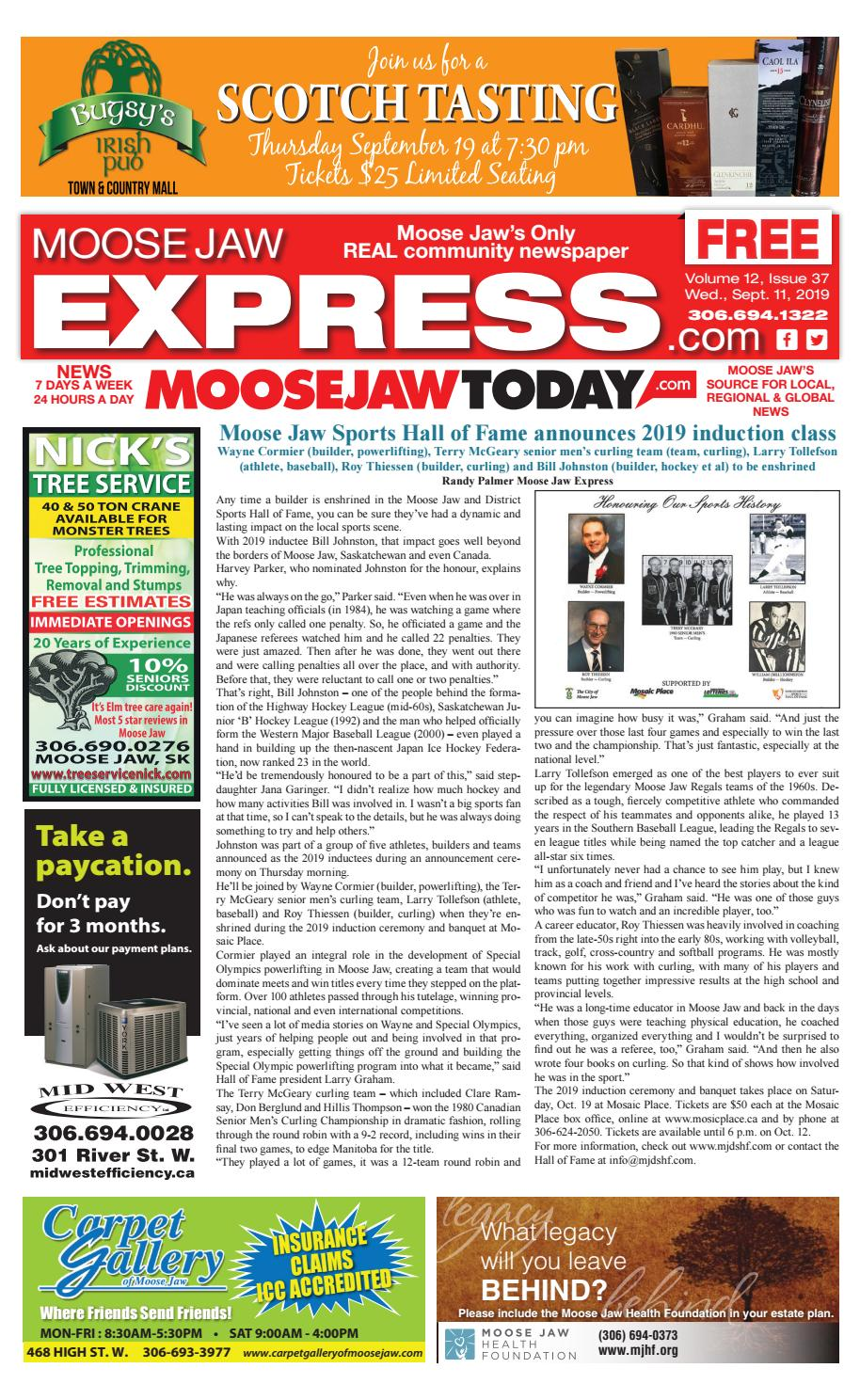 Miraculous Moose Jaw Express September 11Th 2019 By Moose Jaw Express Short Links Chair Design For Home Short Linksinfo