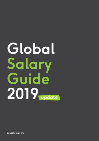 Bespoke Careers Global Salary Guide 2019 By Bespokecareers Issuu