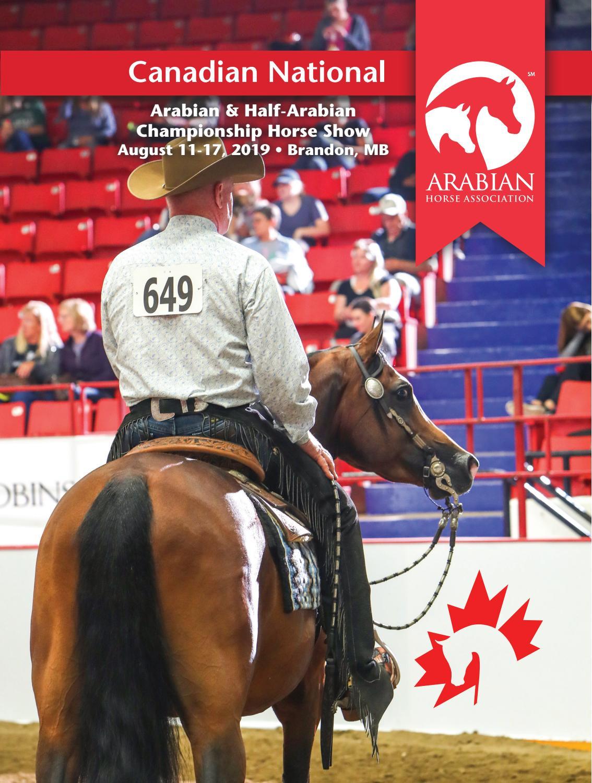 2019 Canadian Nationals Program By Arabian Horse Association Issuu