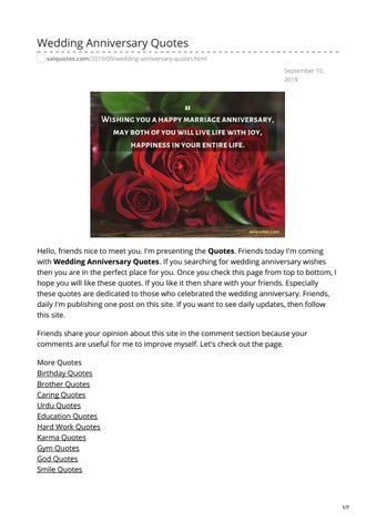 Wedding Anniversary Quotes by saiquotes - issuu
