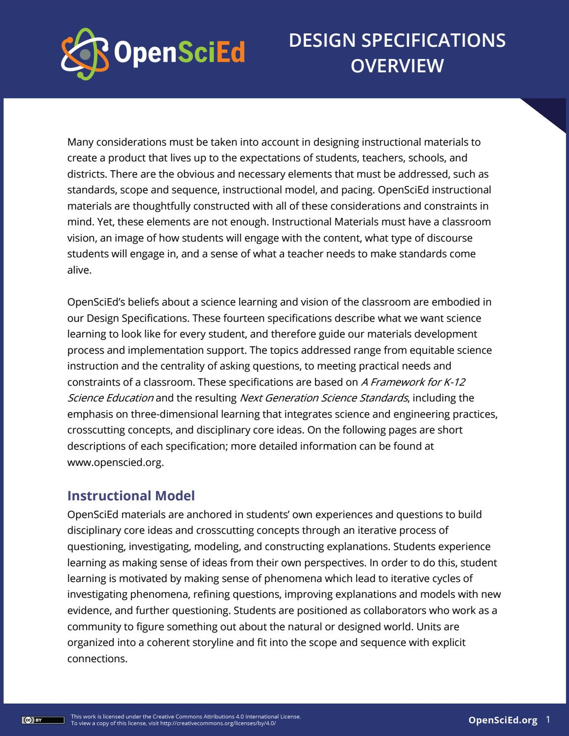 Openscied Design Specifications Overview By Openscied Issuu