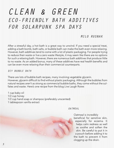 Page 4 of Clean & Green; Eco-Friendly Bath Additives for Solarpunk Spa Days