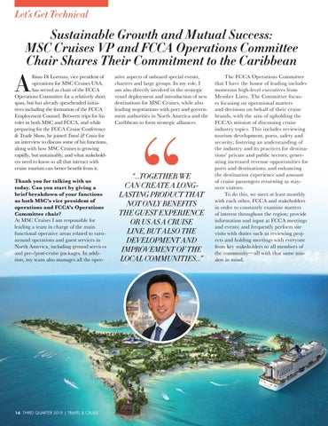 Page 18 of Sustainable Growth and Mutual Success: MSC Cruises VP and FCCA Operations Committee Chair Shares Their Commitment to the Caribbean