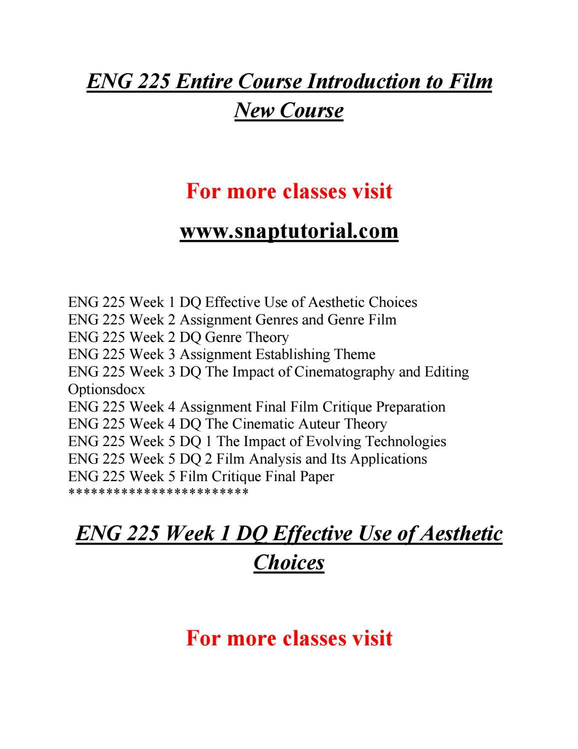 Eng 225 Education Specialist Snaptutorial Com By Mcdonaldry59 Issuu