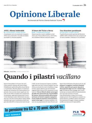 Nr. 26 Opinione Liberale 13 settembre 2019 by Opinione