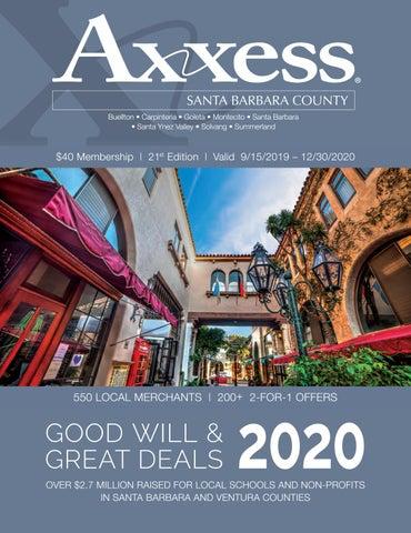 Summer Solstice 2020 Santa Barbara.Axxess Santa Barbara County 2020 By Axxesscard Issuu